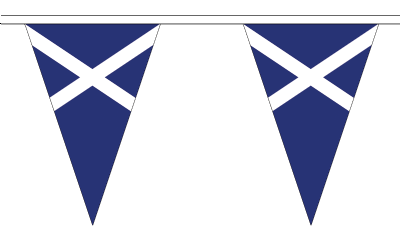 Scotland Navy Blue Variant Triangular Flag Bunting - 20m Long - 54 Flags
